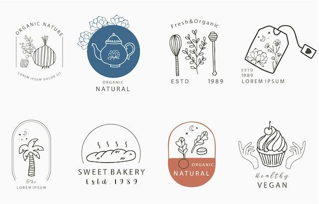 Kolekcja Projektowania żywności Z Cebulą Premium Wektorów