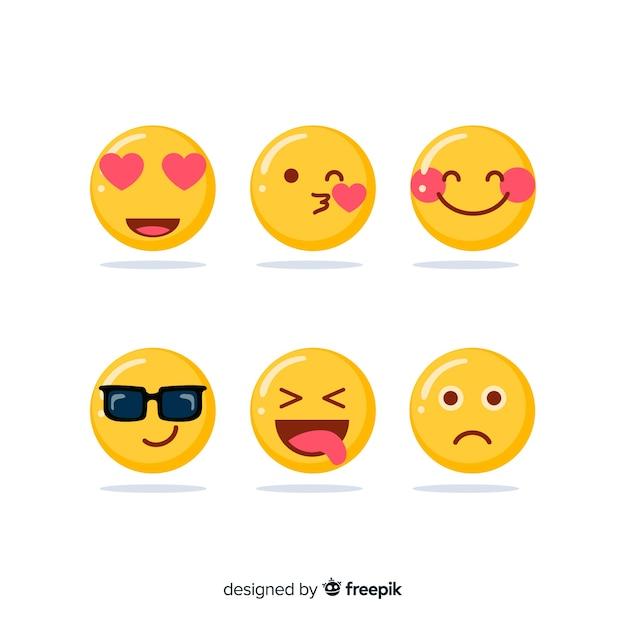 Kolekcja reakcji na emotikony Darmowych Wektorów