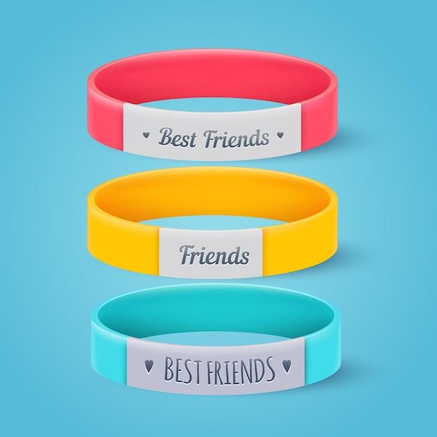 Kolekcja Realistycznych Zespołów Przyjaźni Darmowych Wektorów
