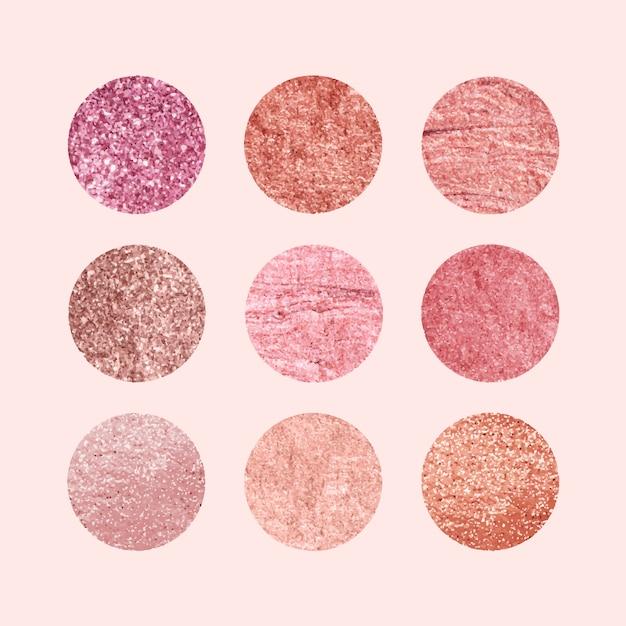 Kolekcja różowy wzory Darmowych Wektorów