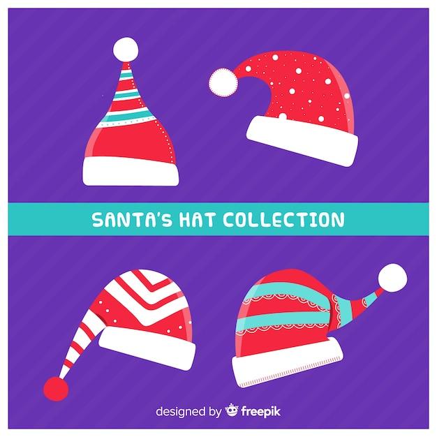 Kolekcja santa hat Darmowych Wektorów