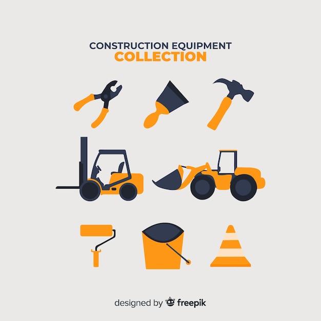 Kolekcja sprzętu budowlanego Darmowych Wektorów