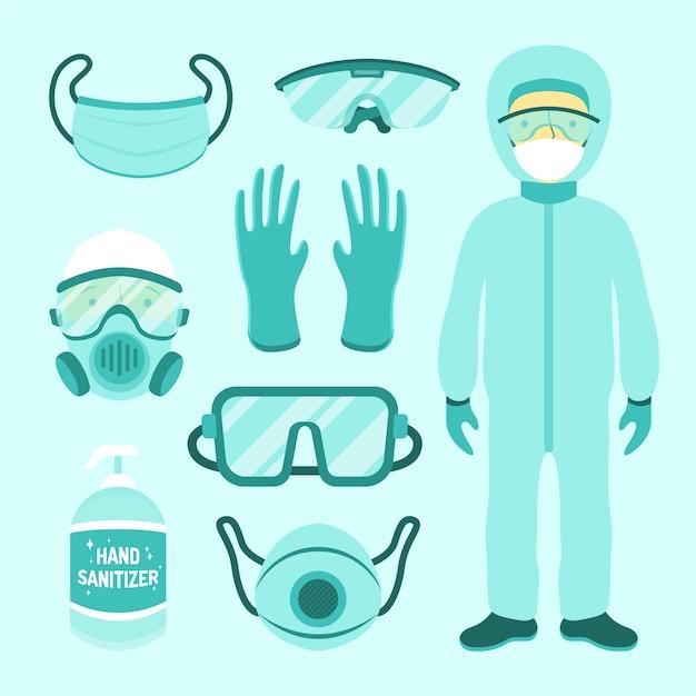 Kolekcja Sprzętu Do Ochrony Przed Wirusami Darmowych Wektorów