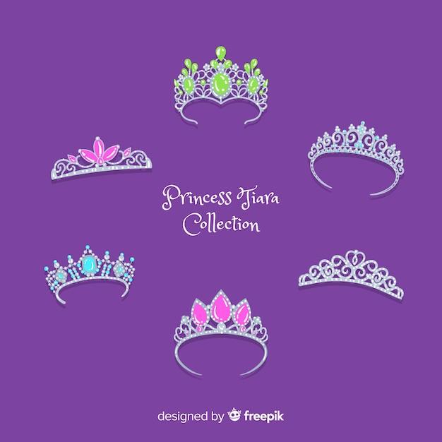 Kolekcja Srebrnej Tiary Księżniczki Darmowych Wektorów