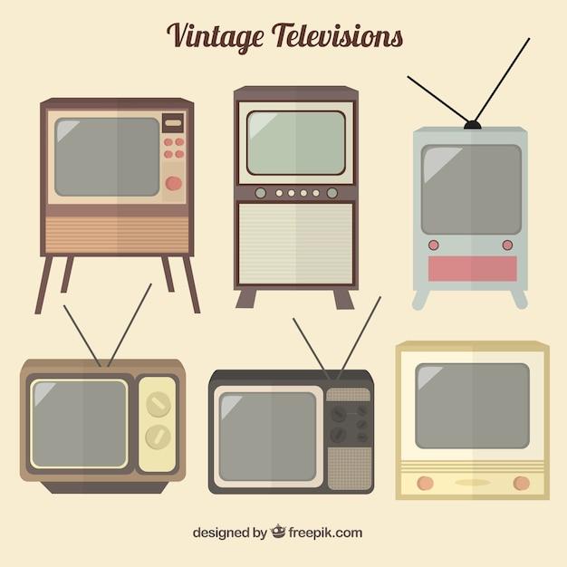 Kolekcja starych telewizorów Darmowych Wektorów