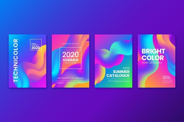 Kolekcja Streszczenie Kolorowe Okładki Darmowych Wektorów