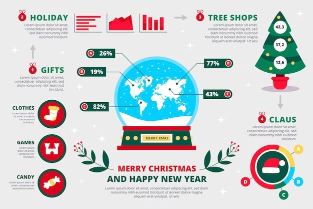 Kolekcja świątecznych Infografiki Darmowych Wektorów