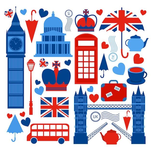 Kolekcja symboli londynu Darmowych Wektorów