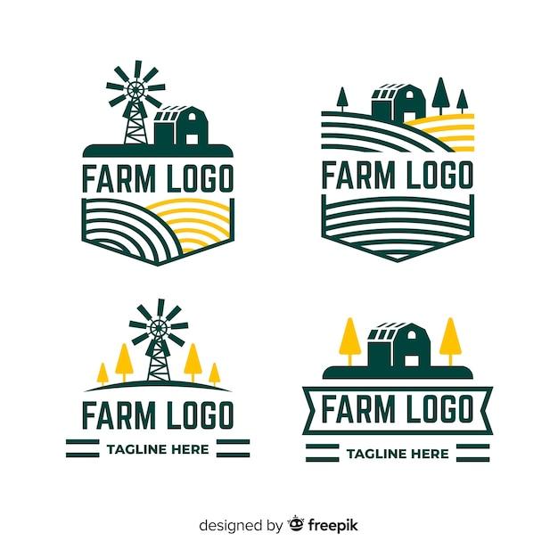 Kolekcja szablon logo płaski gospodarstwa Darmowych Wektorów