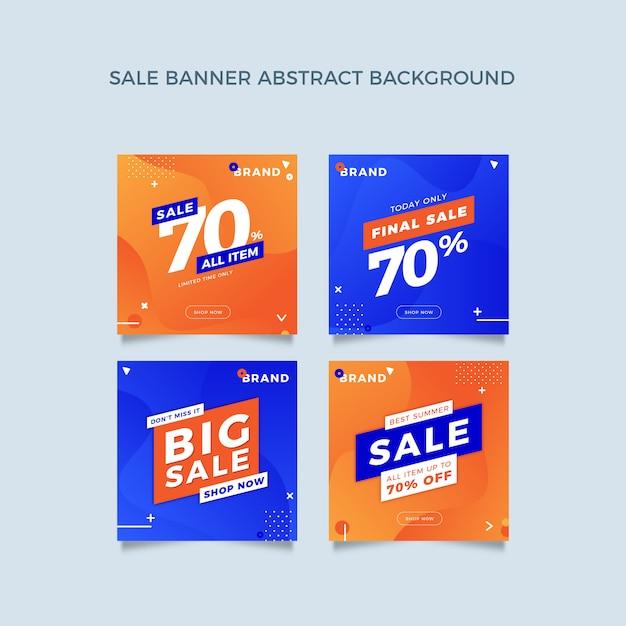 Kolekcja szablon transparentu promocyjnego z ciekłym wzorem Premium Wektorów