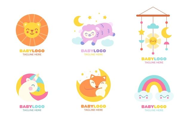 Kolekcja Szablonów Logo Dziecka Premium Wektorów