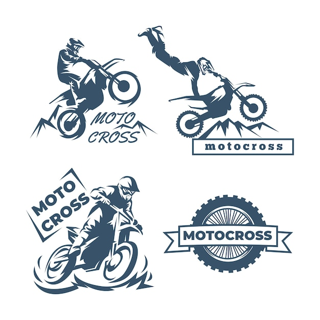 Kolekcja Szablonów Logo Motocross Darmowych Wektorów