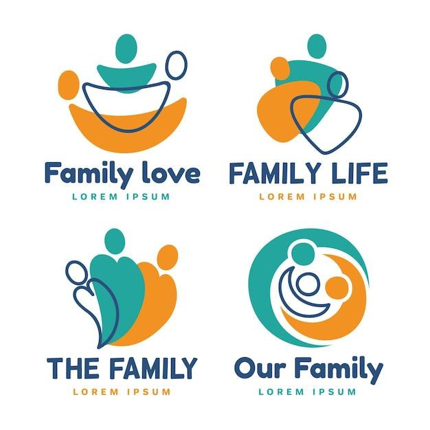 Kolekcja Szablonów Logo Rodziny Darmowych Wektorów