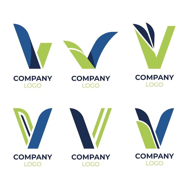Kolekcja Szablonów Logo V. Darmowych Wektorów