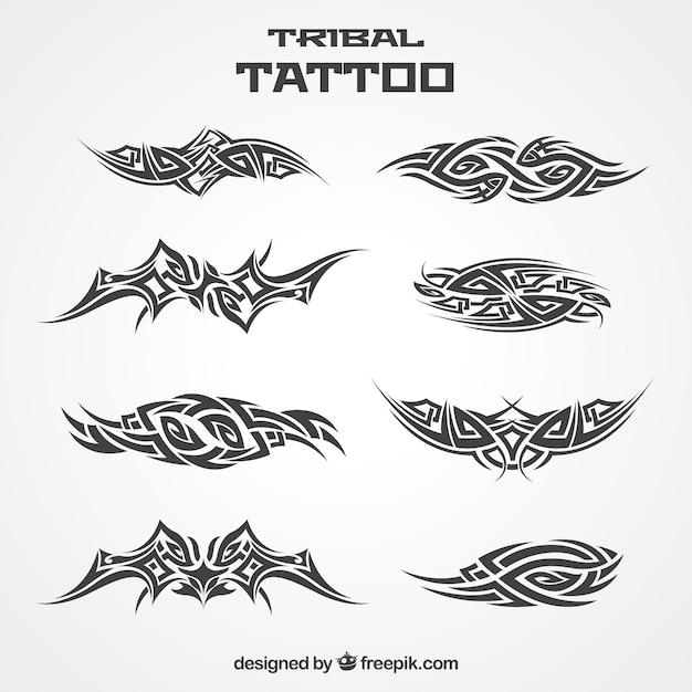 Kolekcja tatuaż plemiennych Darmowych Wektorów