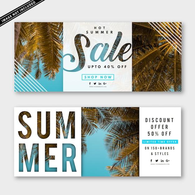 Kolekcja Transparent Sprzedaż Lato Premium Wektorów