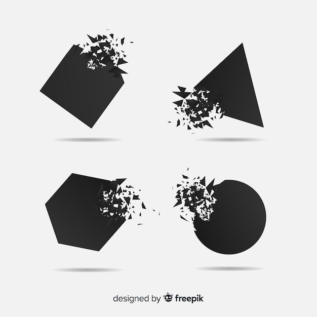 Kolekcja Transparentnych Ciemnych Wybuchów Darmowych Wektorów