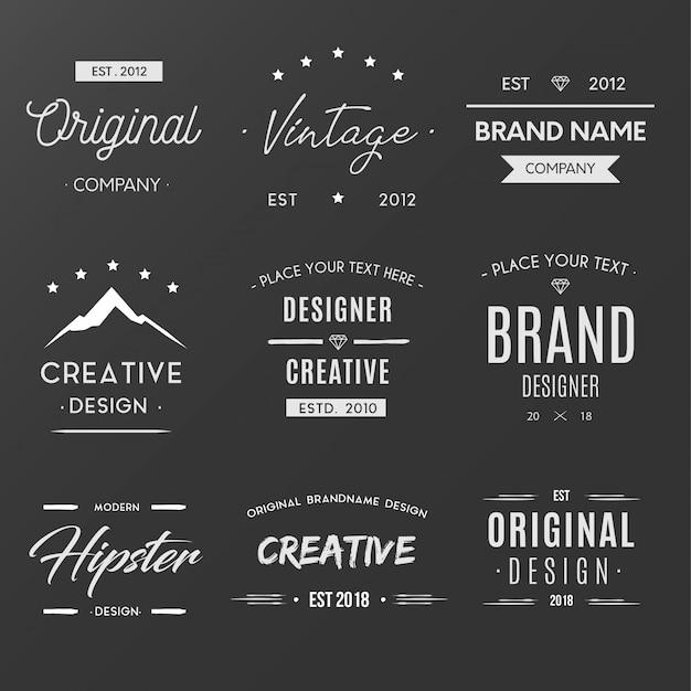 Kolekcja Vintage Creative Logo Darmowych Wektorów
