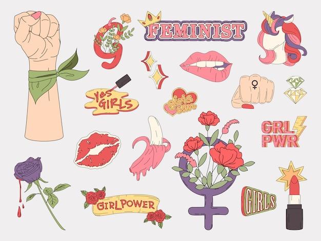 Kolekcja wektorów moc dziewczyny Darmowych Wektorów