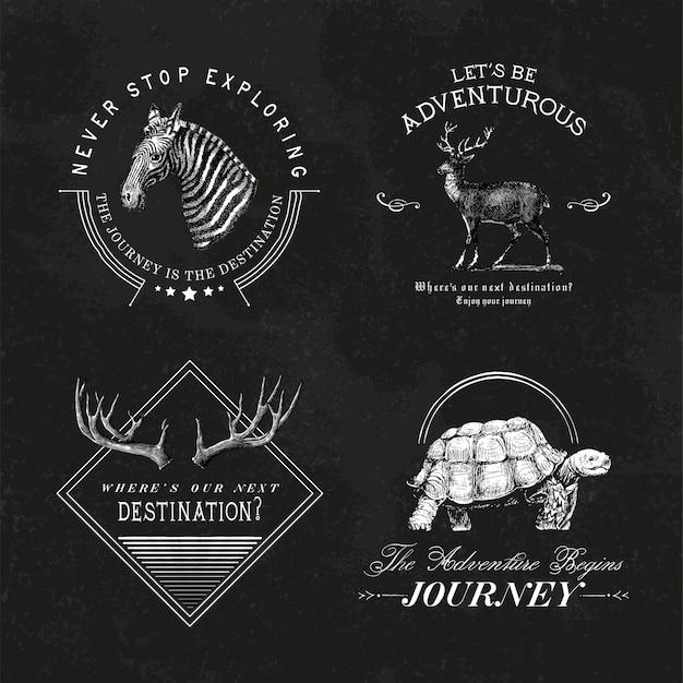 Kolekcja wektorów wektory logo przygoda Darmowych Wektorów