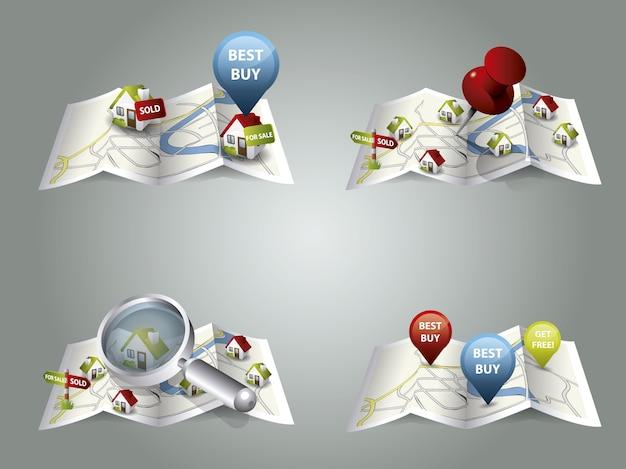 Kolekcja Wzorów Map Darmowych Wektorów