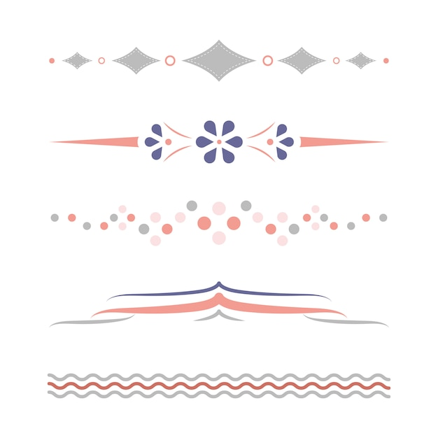 Kolekcja wzorów pastelowych przegród Darmowych Wektorów