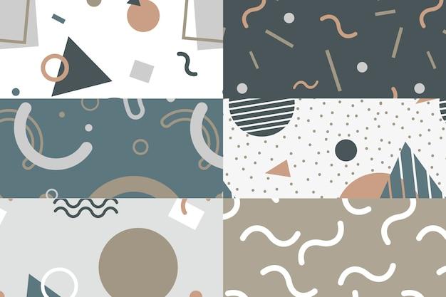 Kolekcja wzorów w stylu memphis Darmowych Wektorów
