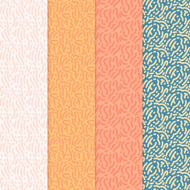 Kolekcja Wzorów Zaokrąglonych Linii Darmowych Wektorów