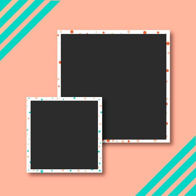 Kolekcja zdjęć polaroid Darmowych Wektorów