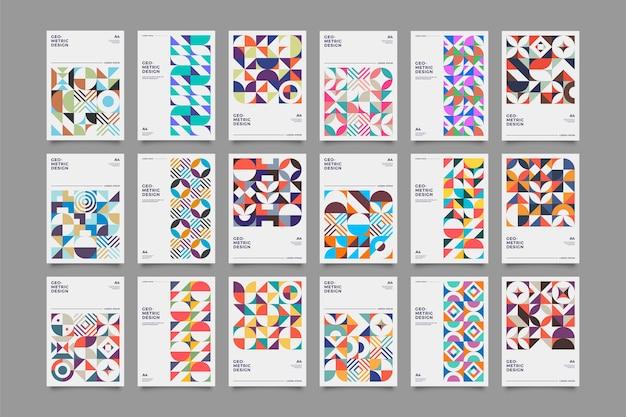 Kolekcja Zestaw Plakatów Retro Premium Wektorów