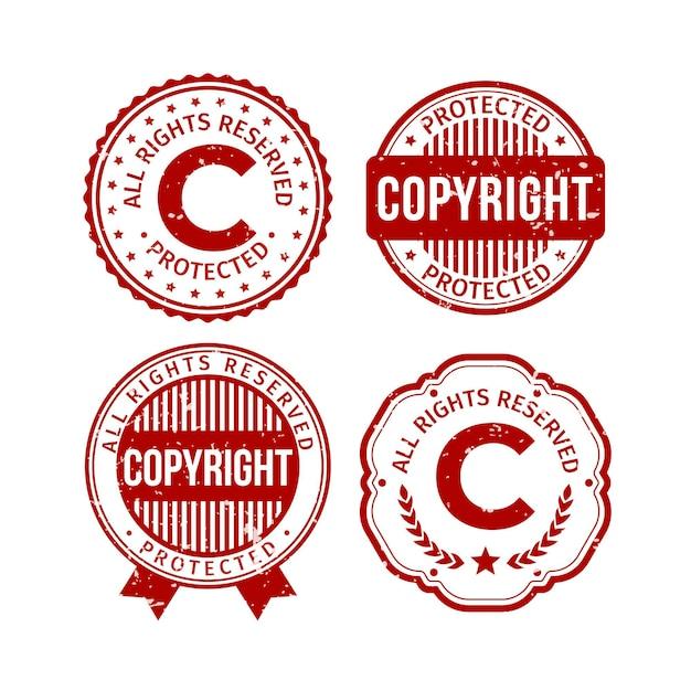 Kolekcja Znaczków Autorskich Darmowych Wektorów