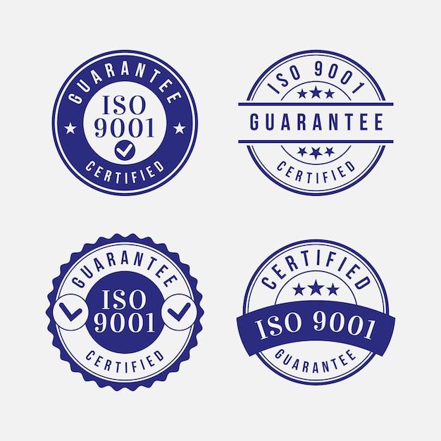 Kolekcja Znaczków Certyfikacji Iso Darmowych Wektorów