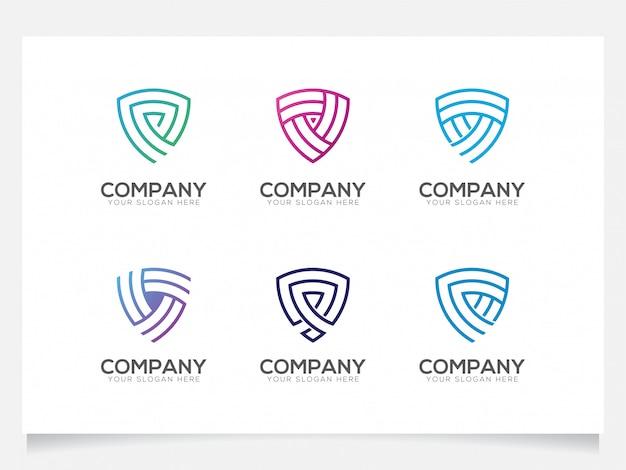 Kolekcje Logo Tarczy Dla Firmy Lub Agencji Premium Wektorów
