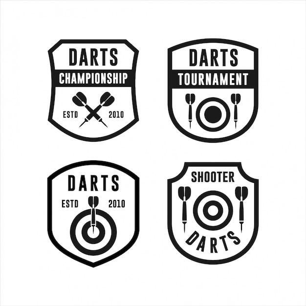 Kolekcje Logo Turniejów Darts Championship Premium Wektorów