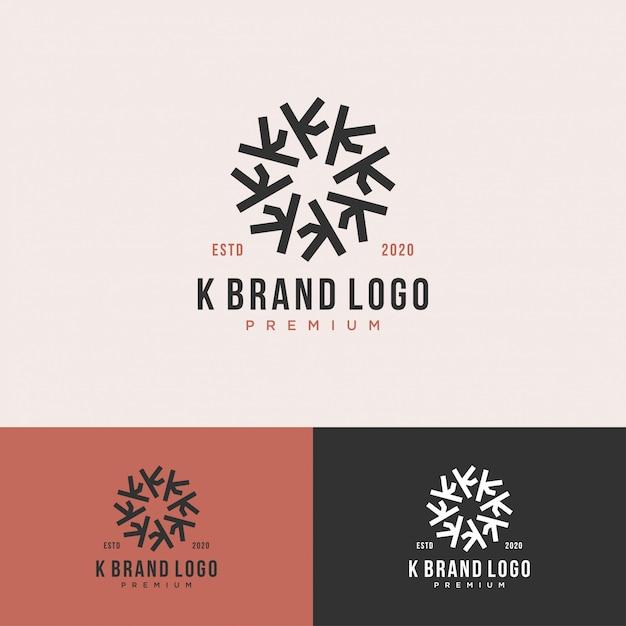 Koło Z Logo Premium List K Premium Wektorów