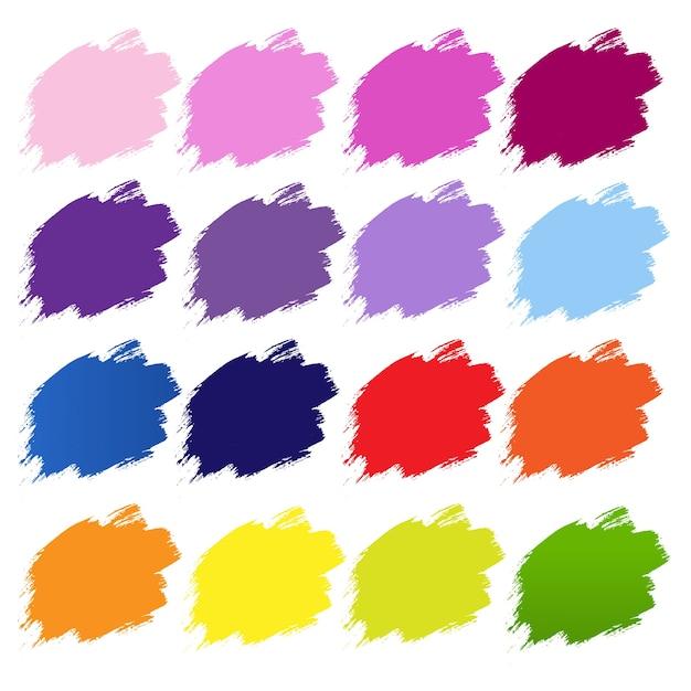Kolor Blobs Banner Białe Tło, Ilustracji. Premium Wektorów