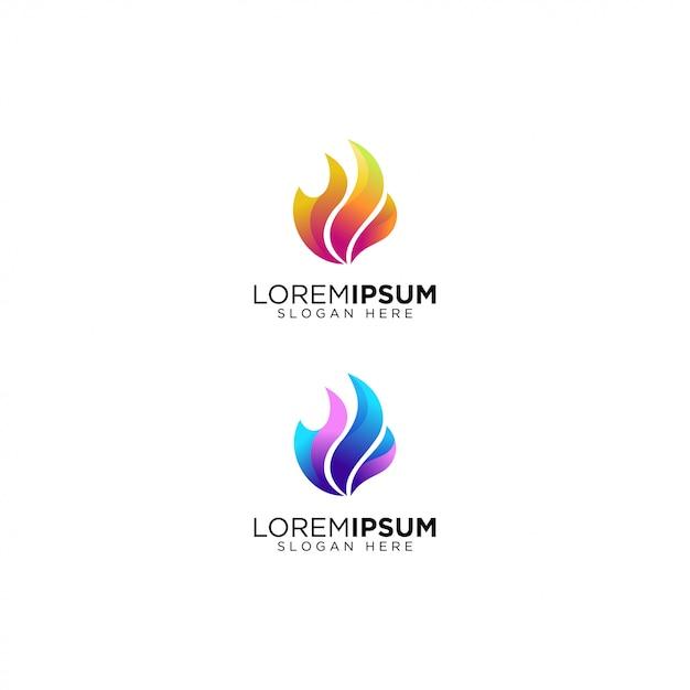 Kolor Gradientu Płomienia Premium Wektorów