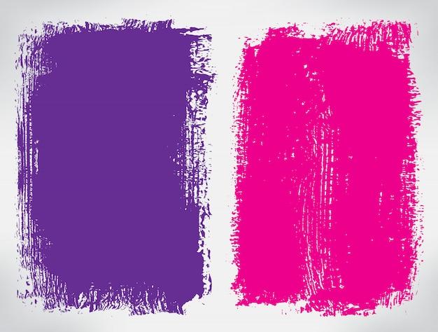 Kolor grunge banery Premium Wektorów