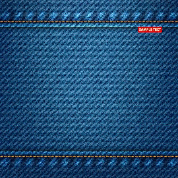 Kolor Jeansu Niebieski. Denimowe Tło Dla Swojego Projektu Premium Wektorów