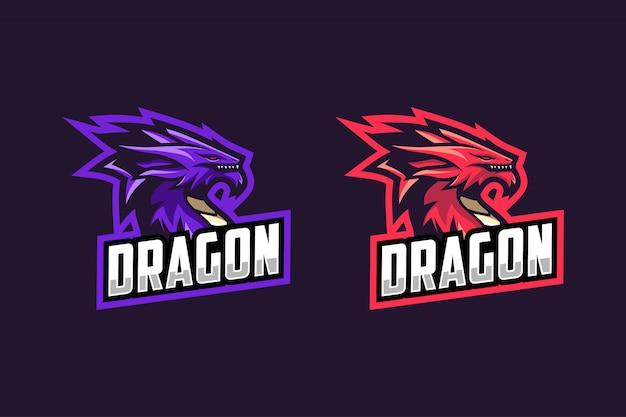 Kolor Opcji Logo Esportowego Smoka Premium Wektorów