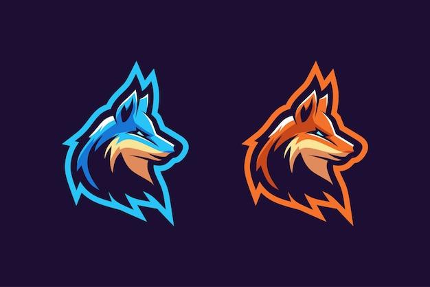 Kolor Opcji Logo Maskotki Fox Premium Wektorów