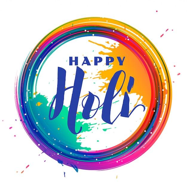Kolor Rozchlapać Rama Holi Festiwal Tło Darmowych Wektorów