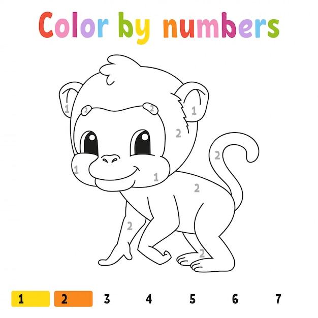 Kolor Według Liczb. Premium Wektorów