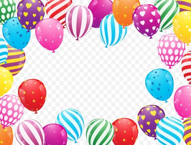 Kolorowa balonowa tło wektoru ilustracja Premium Wektorów