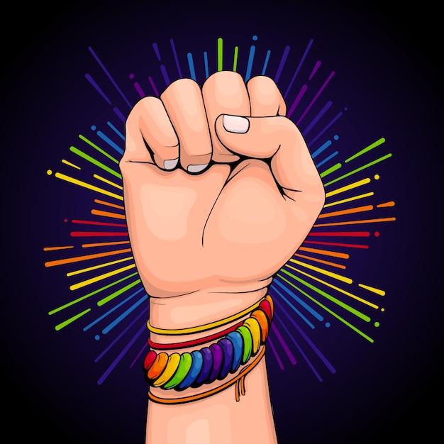 Kolorowa Bransoletka Pride Day Concept Darmowych Wektorów