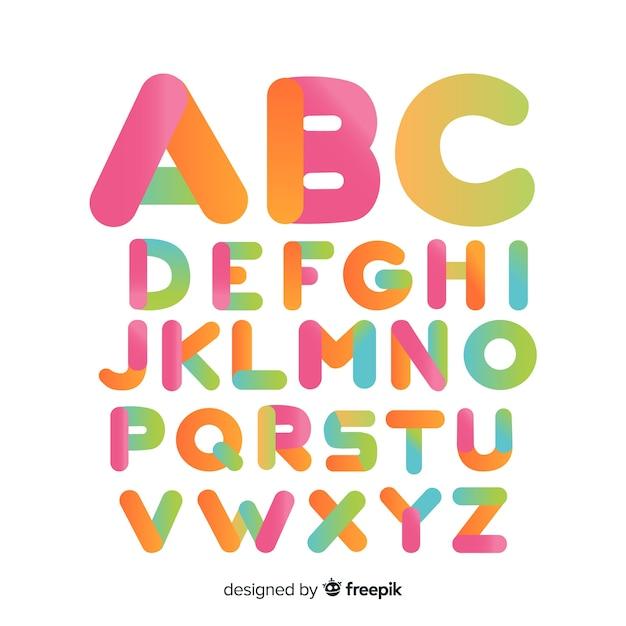 Kolorowa gradientowa typografia Darmowych Wektorów