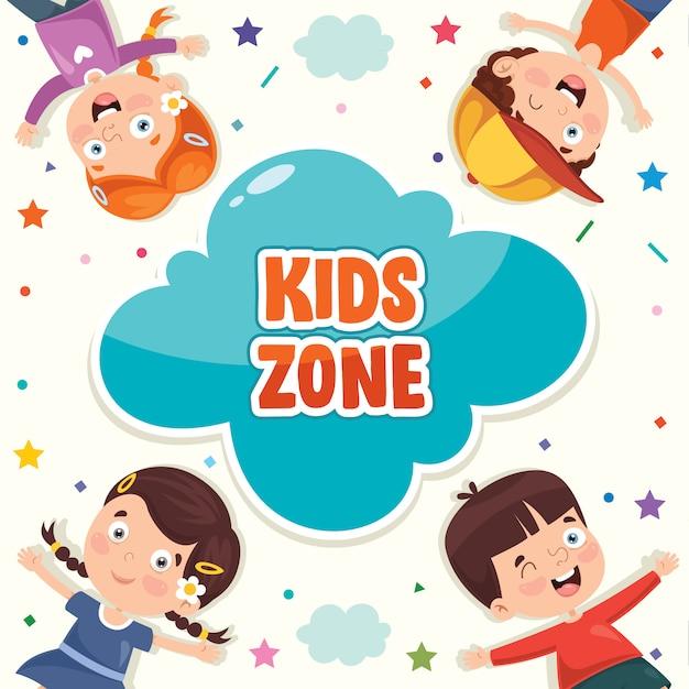 Kolorowa Ilustracja Na Szczęśliwy Dzień Dziecka Premium Wektorów