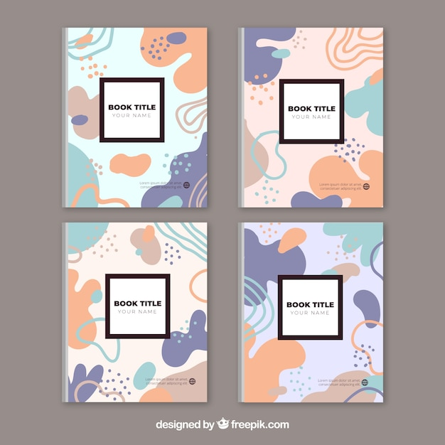 Kolorowa Kolekcja Okładek Z Kształtami Bąbelków Darmowych Wektorów