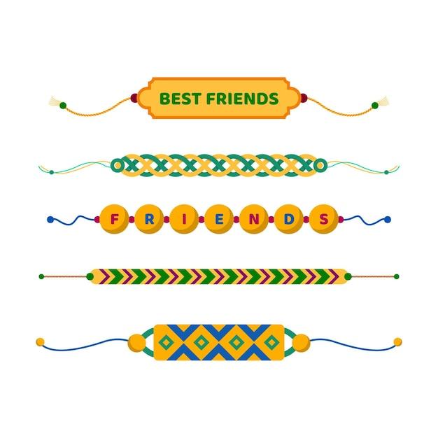 Kolorowa Kolekcja Zespołu Przyjaźni Darmowych Wektorów