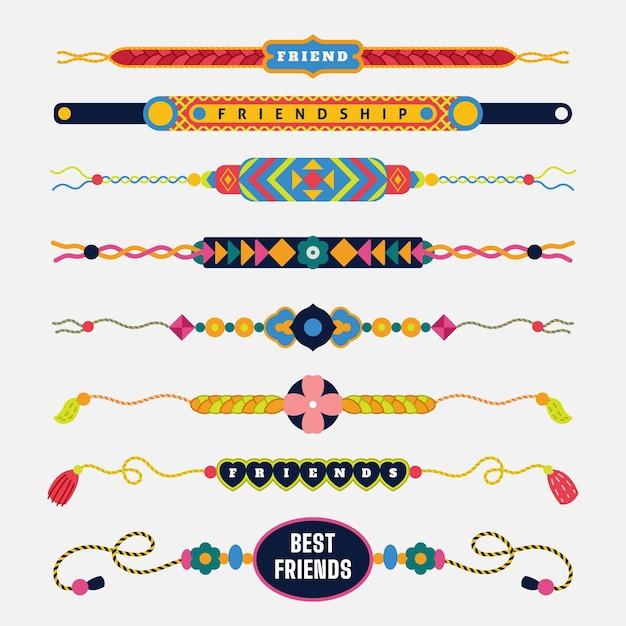 Kolorowa Kolekcja Zespołu Przyjaźni Premium Wektorów